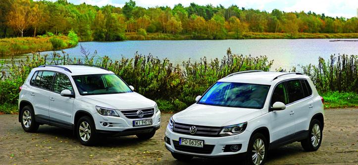 VW Tiguna 1.4 TSI 2010 r., VW Tiguan 2.0 TSI 2012 r.