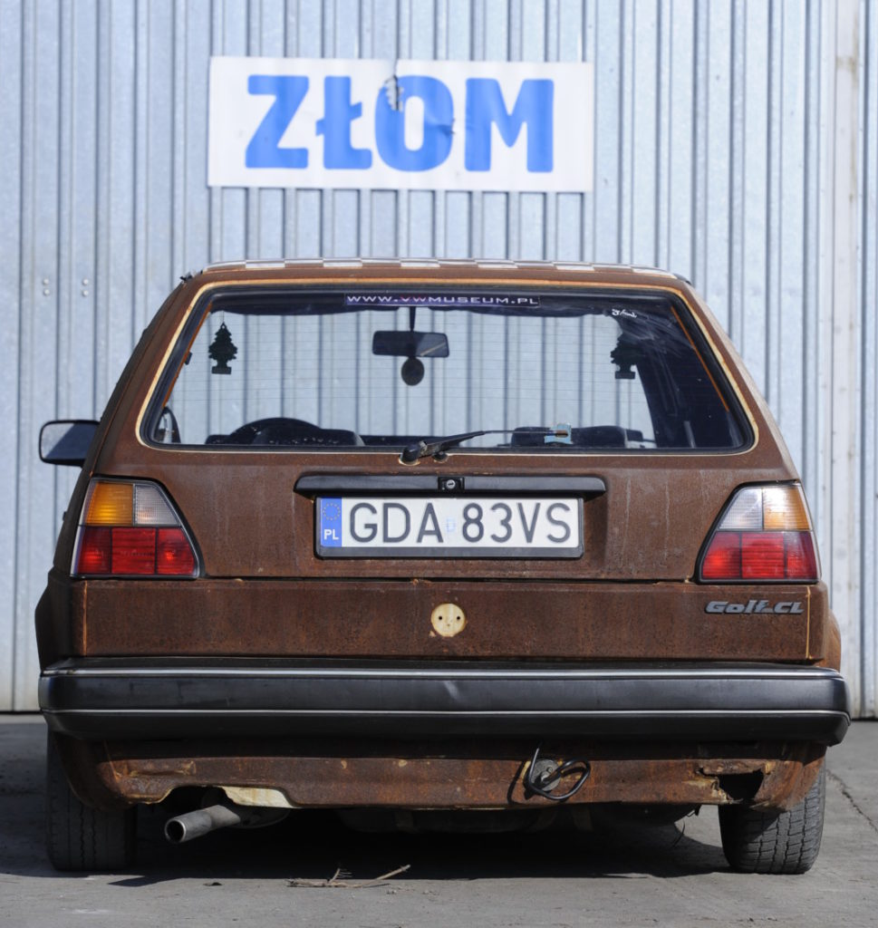 VW Golf II, tuning, rost style