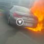 SZOK: Wyciek benzyny zmienił niegroźny wypadek w koszmar i spłonęło BMW serii 6- VIDEO