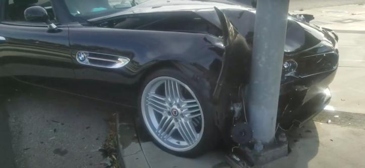 Alpina Roadster V8 wypadek