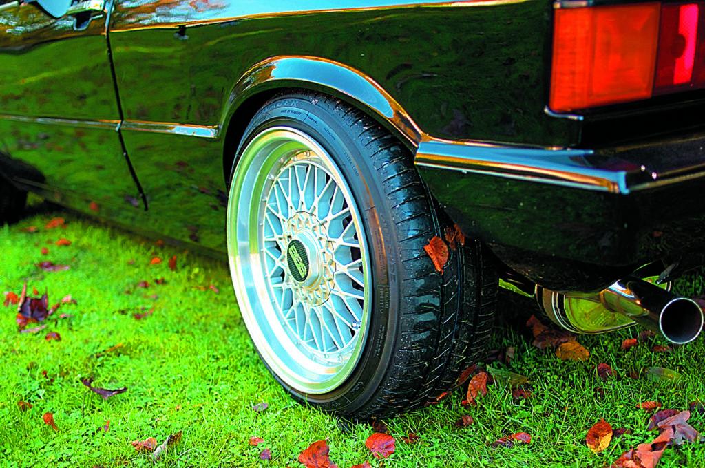 VW Scirocco 1 po tuningu i swapie silnika, koło