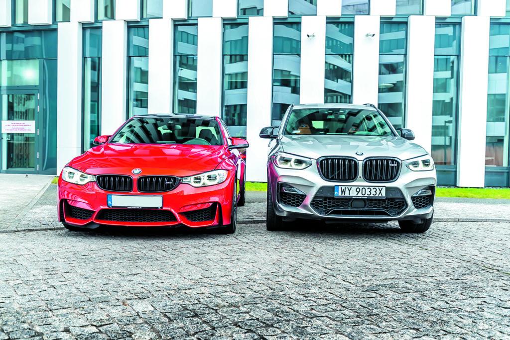 BMW M3 Competition i BMW X3 M Competition przodem