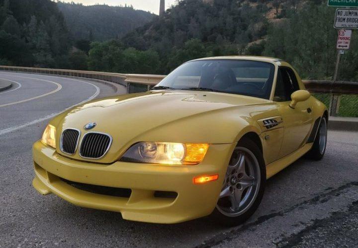 Dinan Z3 M Supercharged BMW żółte zaparkowane