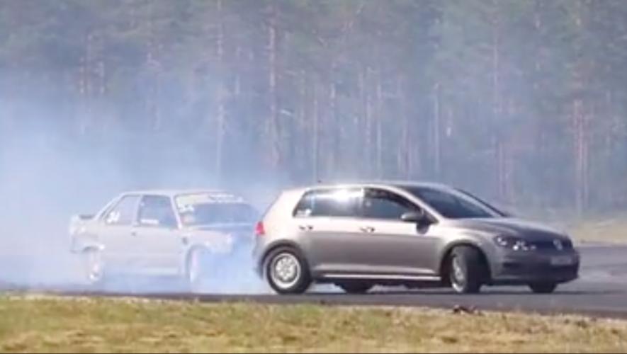 Golf 7 V8 BMW drift