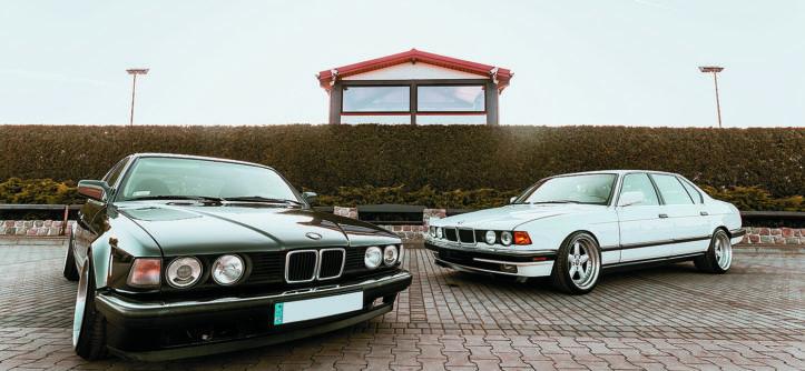 BMW E23 735i i BMW E23 740iL z przodu