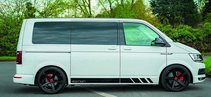VW T6 po tuningu Star Performance widok z boku