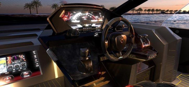 kokpit jachtu Lamborghini