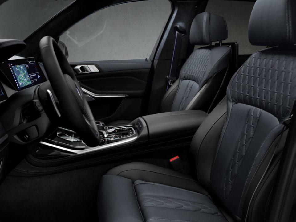 wnętrze BMW Individual BMW X7 Edition Dark Shadow