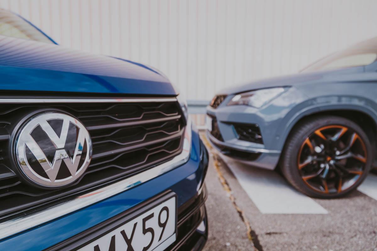 CUPRA Ateca - VW T-Roc R logo vw