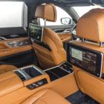 Miejsca pasażerów na tylnej kanapie BMW 745Le G12