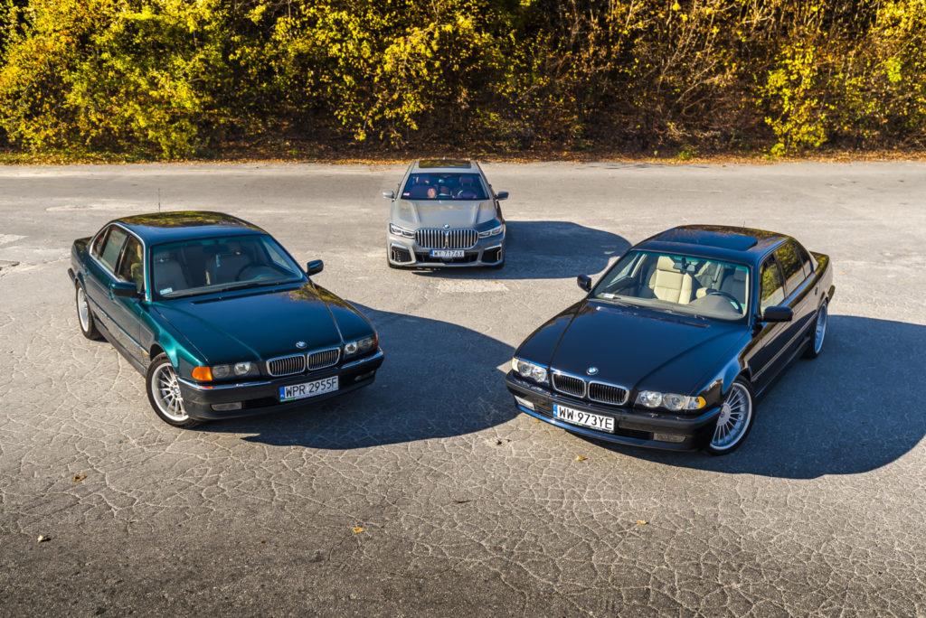 BMW 750iL E38 i BMW 745Le G12 widok z góry