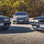 BMW 750iL E38 i BMW 745Le G12 widok z przodu