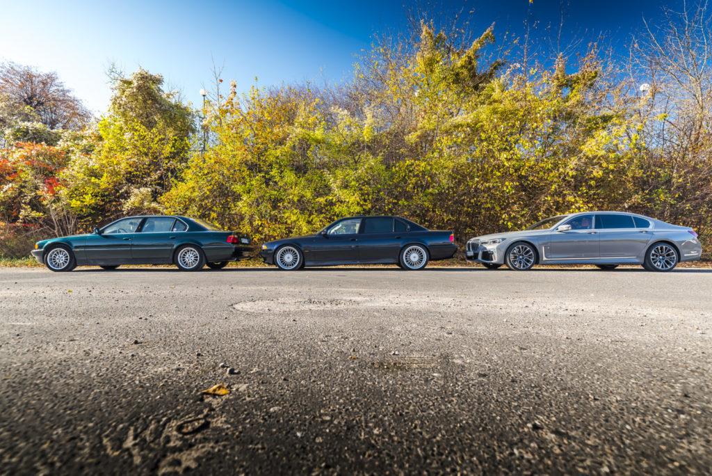 BMW 750iL E38 i BMW 745Le G12 bokiem