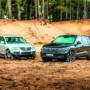 VW Touareg I V10 TDI i VW Touareg III V8 TDI stojące przodem