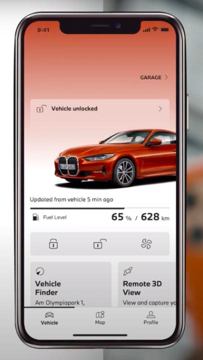 My BMW App iphone aplikacja status samochodu