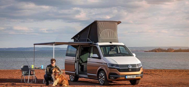 T6.1 Caliornia Volkswagen dach podniesiony