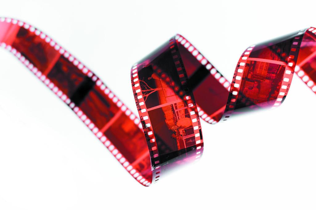 klisza filmowa skręcona
