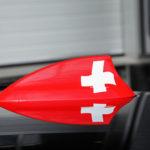 Tuning BMW F30 M340i Dahler barwy szwajcarskie na antenie