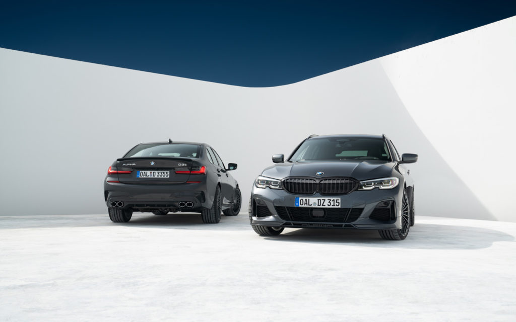 Dwie BMW_ALPINA_D3_S przód i tył