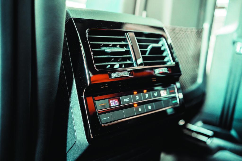 VW Touareg V6 TDI sterowanie klimatyzacją