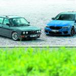 BMW M5 F90 Competition I BMW E28 M5 widok z przodu