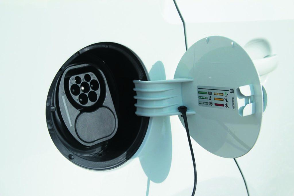 VW e-up! gniazdko zasilania elektrycznego