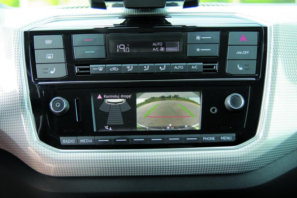 VW e-up! ekran centralny