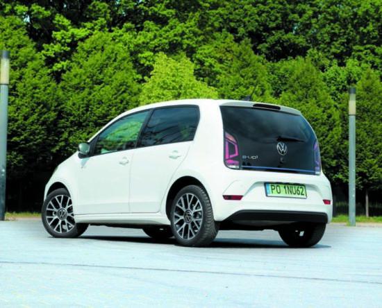 VW e-up! widok z tyłu