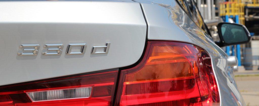 BMW 3 GT F34 napis 330d