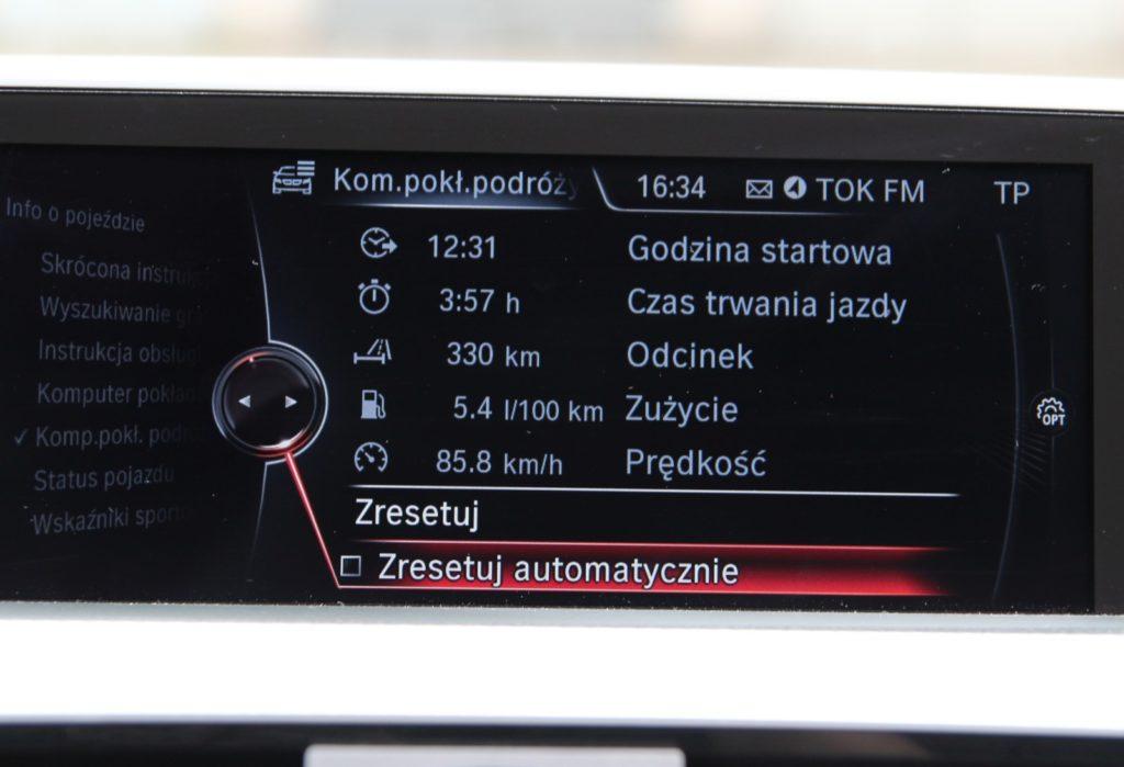BMW 3 GT F34 komputer pokładowy