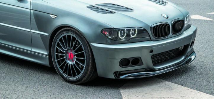 BMW E46 320d tuning widok przodu