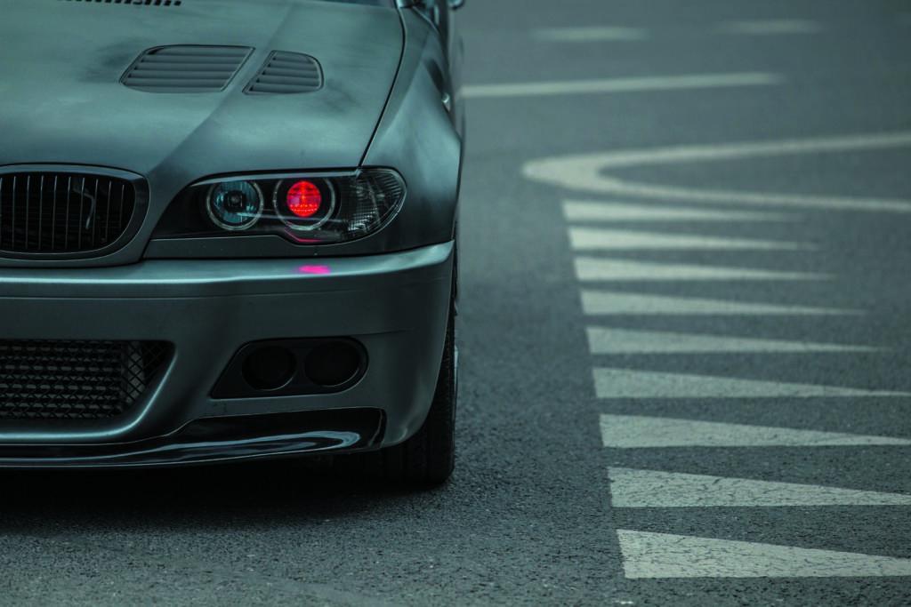 BMW E46 320d tuning czerwone światło przednie