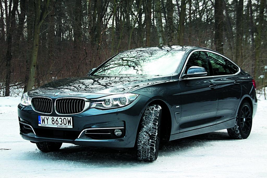 BMW 3 GT F34 w zimowej scenerii