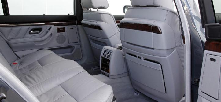 BMW E38 V12 750iL tylna kanapa