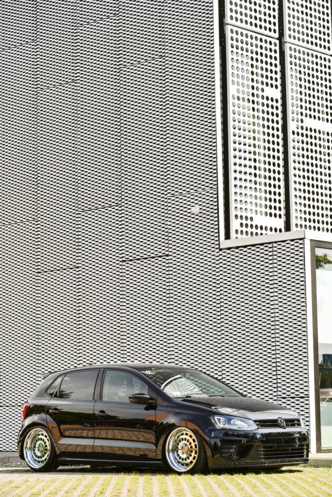 Tuning VW Polo 6R widok z przodu