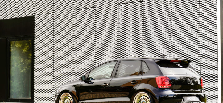 Tuning VW Polo 6R widok z tyłu