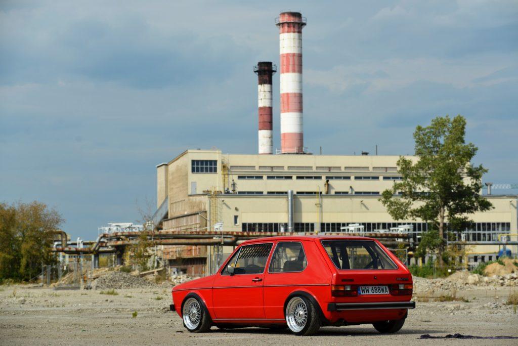 VW Golf Mk 1 widok od tyłu