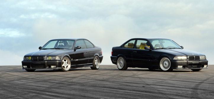 BMW E36 coupé 320i i BMW E36 coupé 328i przodem