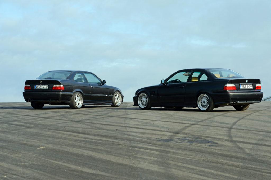 BMW E36 coupé 320i i BMW E36 coupé 328i tyłem