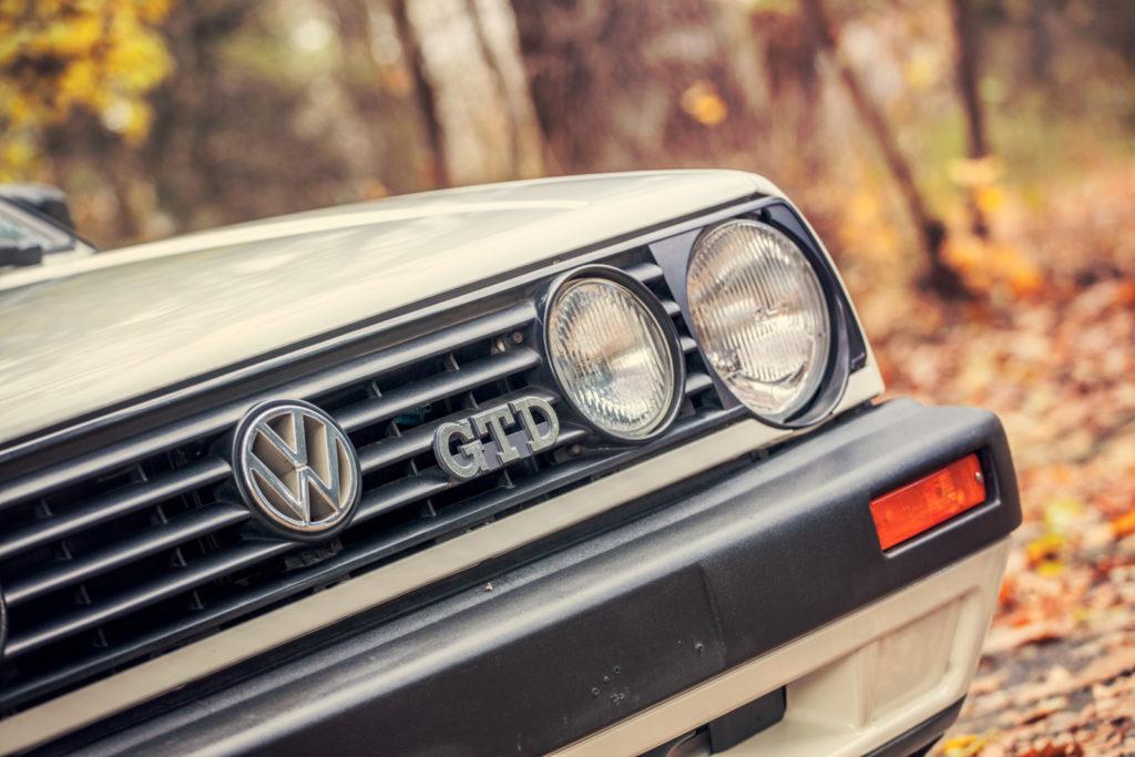 VW Golf Mk 2 GTD napis GTD na grillu