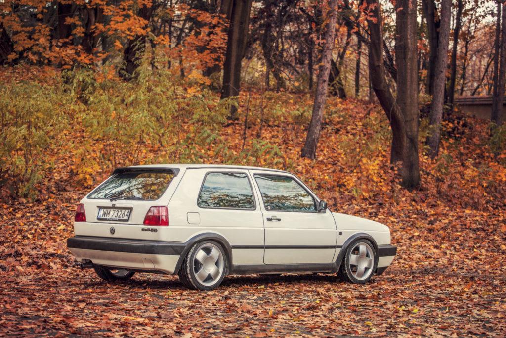 VW Golf Mk 2 GTD widok z tyłu