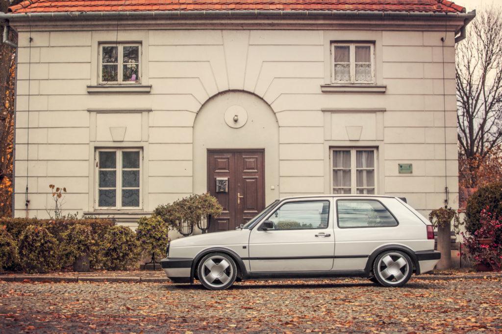 VW Golf Mk 2 GTD widok z boku