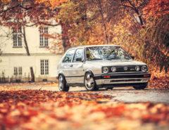 VW Golf Mk 2 GTD widok z przodu