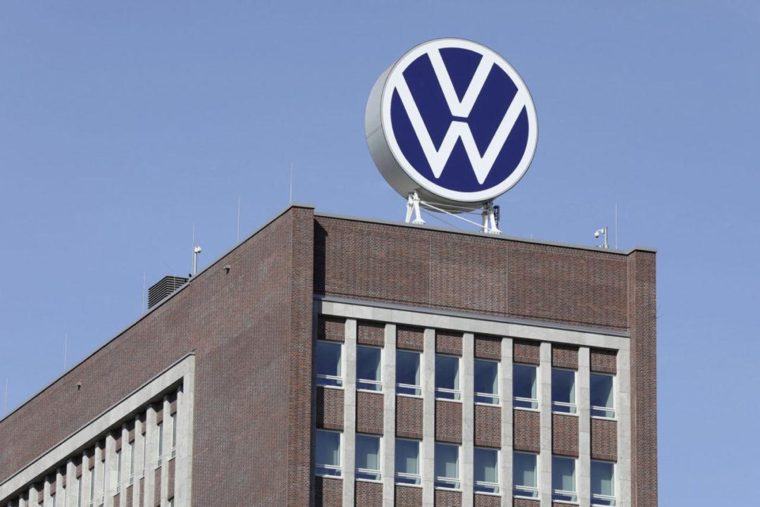 Markenhochaus (Brand Tower) - new Volkswagen logo