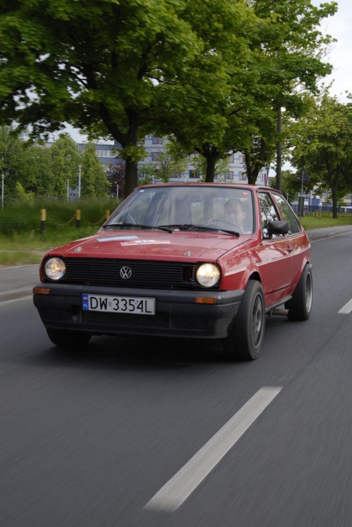 Tuning VW Polo 86C w trakcie jazdy