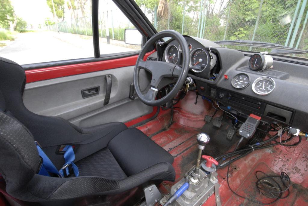 Tuning VW Polo 86C kokpit