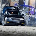 Tuning VW Caddy Mk1 widok z przodu