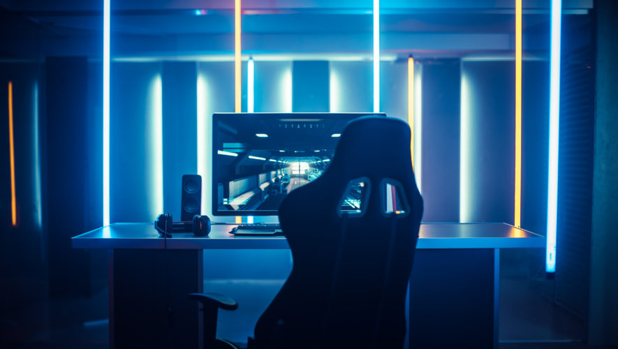 Professional Gamers Room With Ultra Powerful Personal Computer