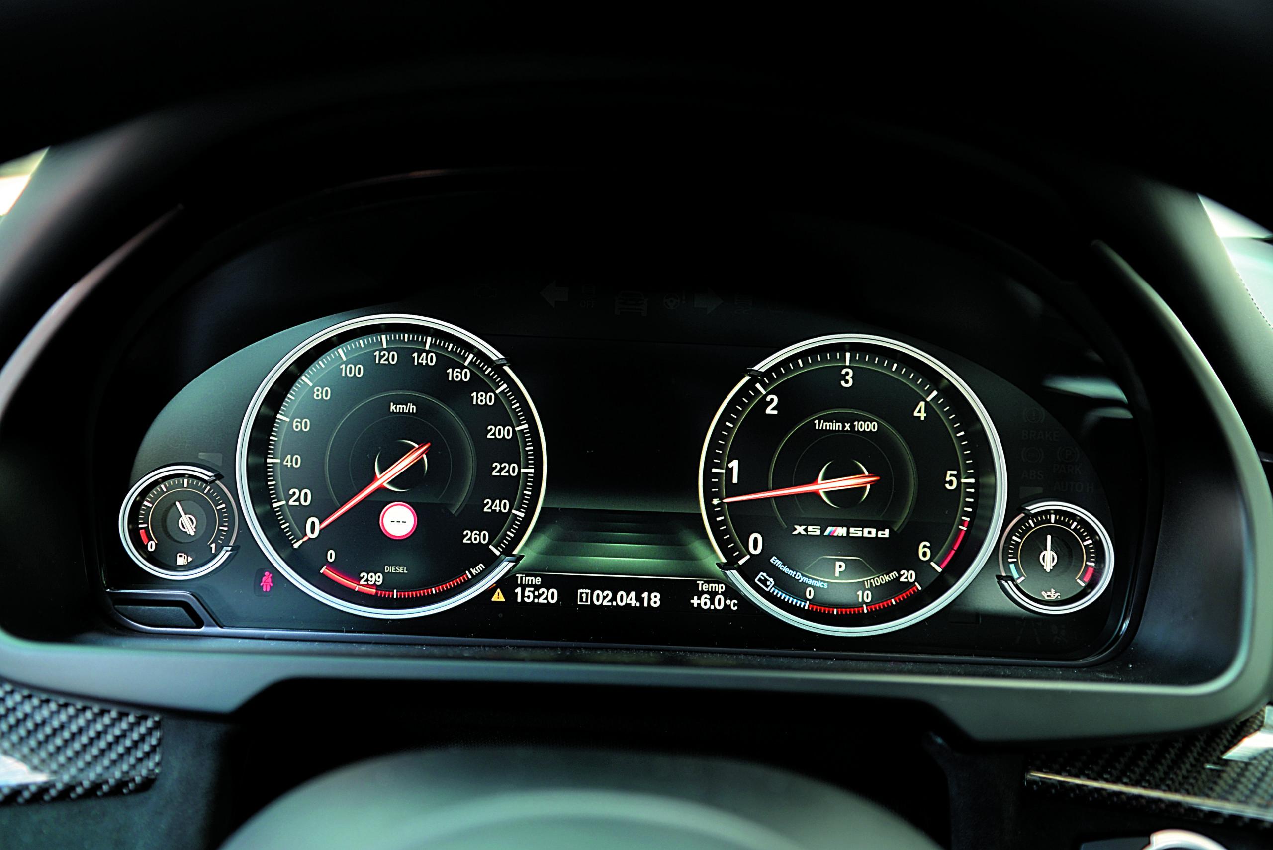 BMW X5 M50d-zegary