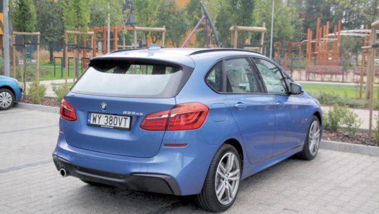 Test_BMW_225xe_widok z tyłu